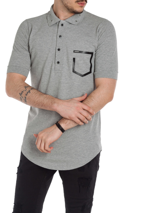 ΜΠΛΟΥΖΑ POLO STEFAN – 019196 – GREY