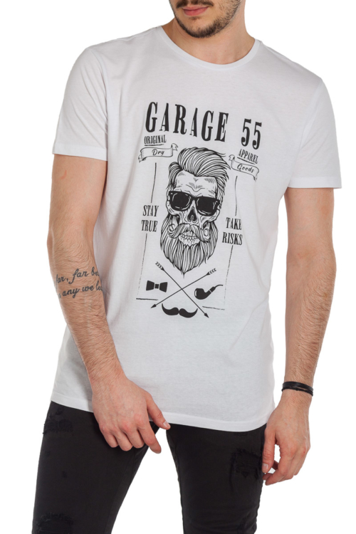 T–SHIRT GARAGE 55 – 019105 – WHITE