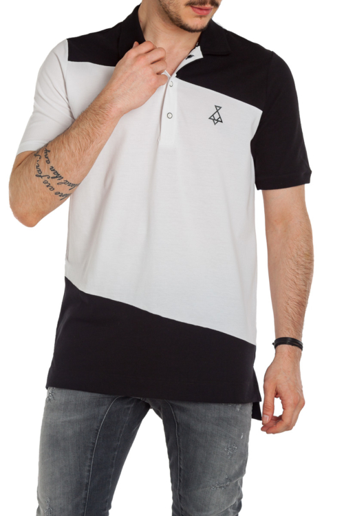 ΜΠΛΟΥΖΑ POLO P/COC – 019212 – BLACK / WHITE